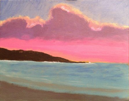 Sunset on canvas by robbjosf
