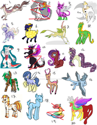 Adoptions For Sale (18 Open) by Sparkleunidog