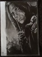 Severus Snape - Alan Rickman drawing FINISHED by MelieseReidMusic