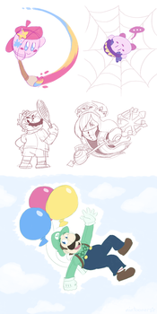 Nintendo Direct Mini Doodles by Nintooner