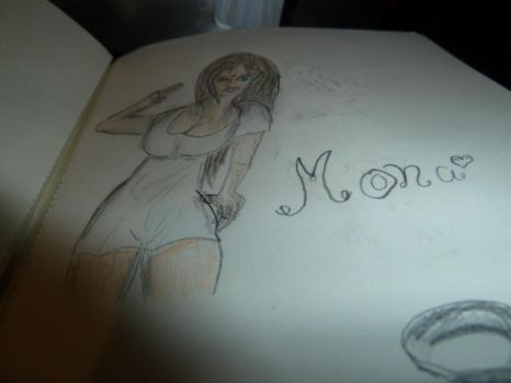 Mona - one of latest drawings by asitex