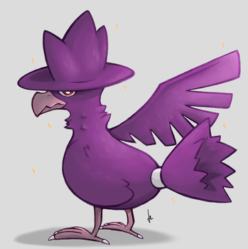 Shiny Murkrow by PanLeSpritartist