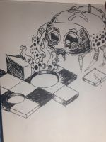 Spider and chess game room by IKrines