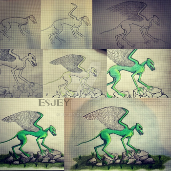 Green Creature by Es-Jey