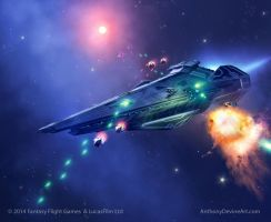 STAR WARS ARMADA Raider Class Corvette by AnthonyDevine