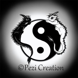 cute Dragon YinYang by PeziCreation