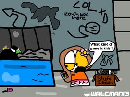 Terry in the Dumpster by Waltman13