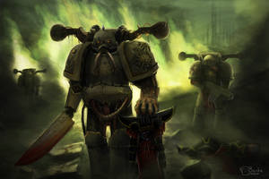Plague Marines Warhammer 40k by Dagahaz