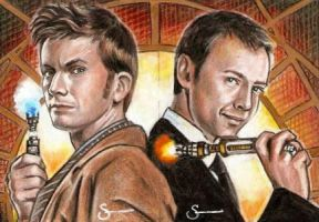 The 10th Doctor and The Master by scotty309