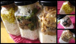 Jar Lunches by sake-bento
