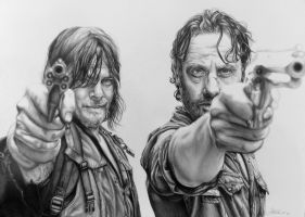 Rick and Daryl by LornaKelleherArt