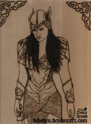 Valkyrie Xena Woodburning by Xena-Fan-Club