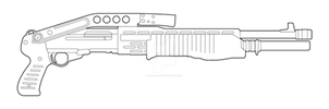 Franchis SPAS-12 with Stock Lineart by MasterChiefFox