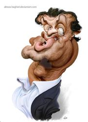 sylvester stallone Caricature by alireza-bagheri