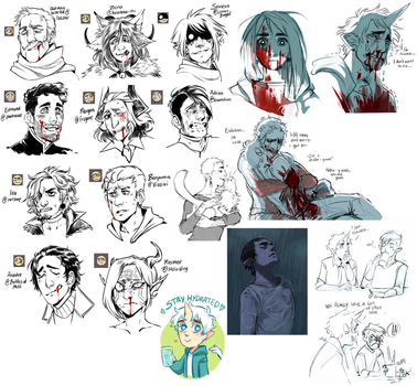 IV: Blood and emotions doodledump by Mineiti