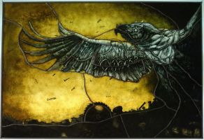 Steampunk Phoenix - diploma by HimmeltheBlue
