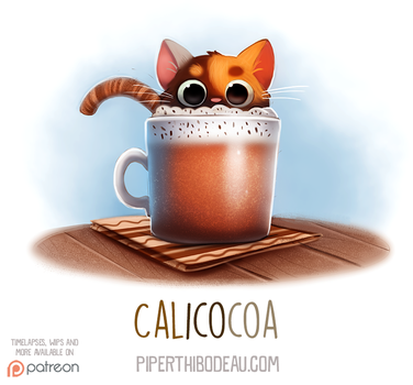 Daily Paint 1534. Calicocoa by Cryptid-Creations