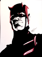Daredevil ink Drawing by AnthonyParenti