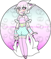 Pastel Many-Eyes Fox [ C L O S E D ] by Yulearse