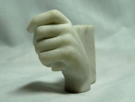 Replacement hand for figurine of Athena by tecciztecatl