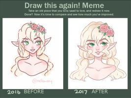 Draw this again! meme by mellowshy