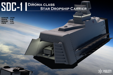 Diroma class Star Dropship Carrier by Zaslon