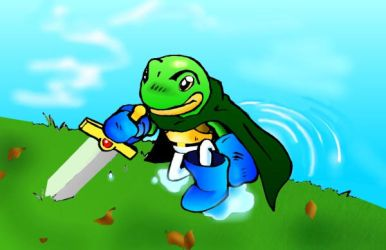 Glenn the Frog Knight by yakumoSoul