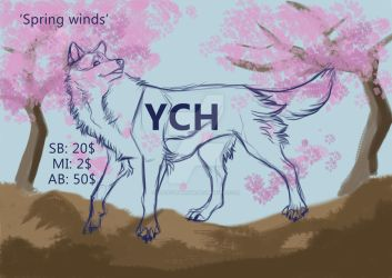 Cherry blossoms YCH auction (OPEN) by LuckyStarhun