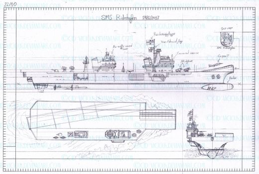 Sketch - SMS Richthofen blueprint by Cid-Vicious