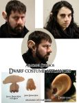 Dwarf Costume Appliances - Nose and Ears by mbielaczyc