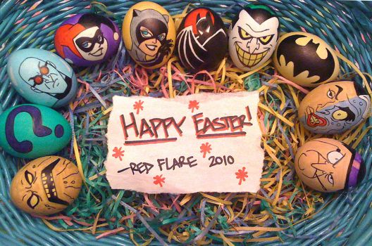 Batman Eggs by Red-Flare