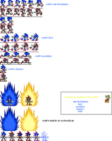 Some sonic and shadow sprites by safysa