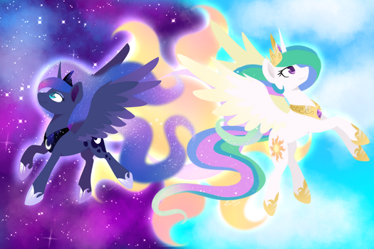 Sun and Moon Wallpaper by PrinceSketchy