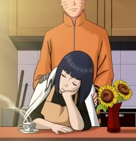 NaruHina - Kitchen by odinforce23