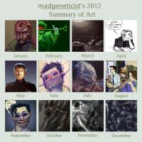 2012 Summary of Art by MadGeneticist