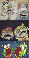 Breadwinners scream at The Zombie House by jaybirdking85