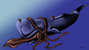 169 - Sperm Whale and Giant Squid by Shasel
