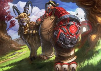 WoW - Character Commission - Pandaren Farmer by RogierB