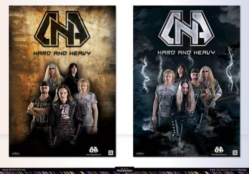 Metal band- D.N.A-poster designs-(1-2) by R1Design