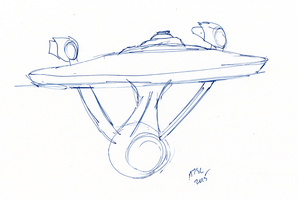 Enterprise Sketch by AdamTSC