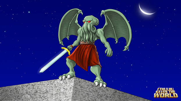 High res version of Cthulhu from CSTW's cover art by slash000