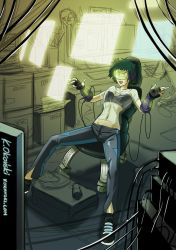 Linette the hacker lady by myszowor