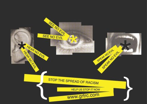 Anti-racism poster design by BazookoidBen
