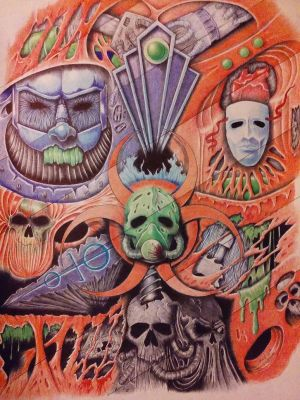 colorful spiralglyphics by bonkey-666