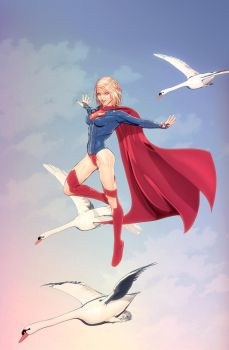 Supergirl up in the sky by maxx0