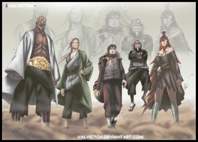 The final team - 5 kages by valvicto4