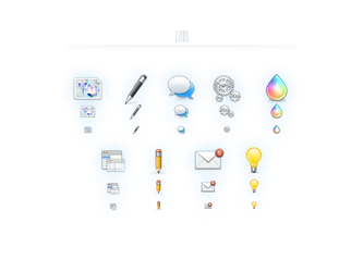 Litos - 125 web icons, PSD, PNG, Refills by okidoci
