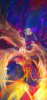 Shingeki no Bahamut - Lucifer and Azazel by Miyukiko