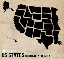 US States Photoshop Brushes - West by sdwhaven