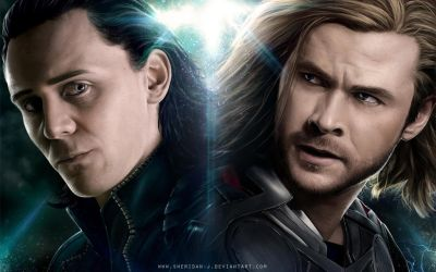 LOKI-THOR Wallpaper by Sheridan-J
